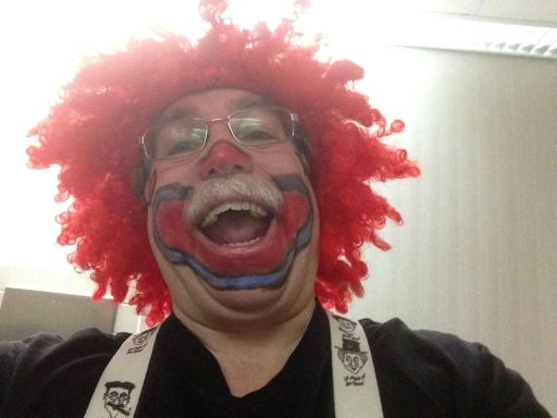 Keith Carter in Clown Makeup