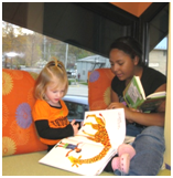 Young reader at Ellettsville