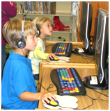 Children on computers at Ellettsville