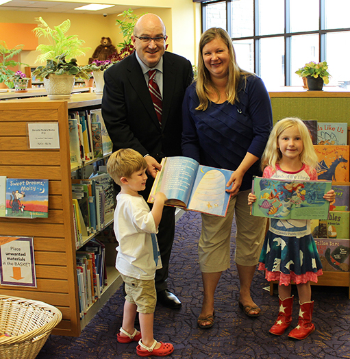 McCarty family loves the Library!