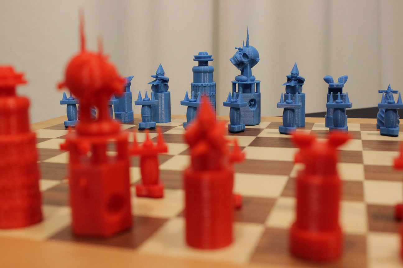 3d chess printed set