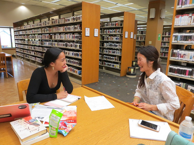 one-on-one tutoring at the library