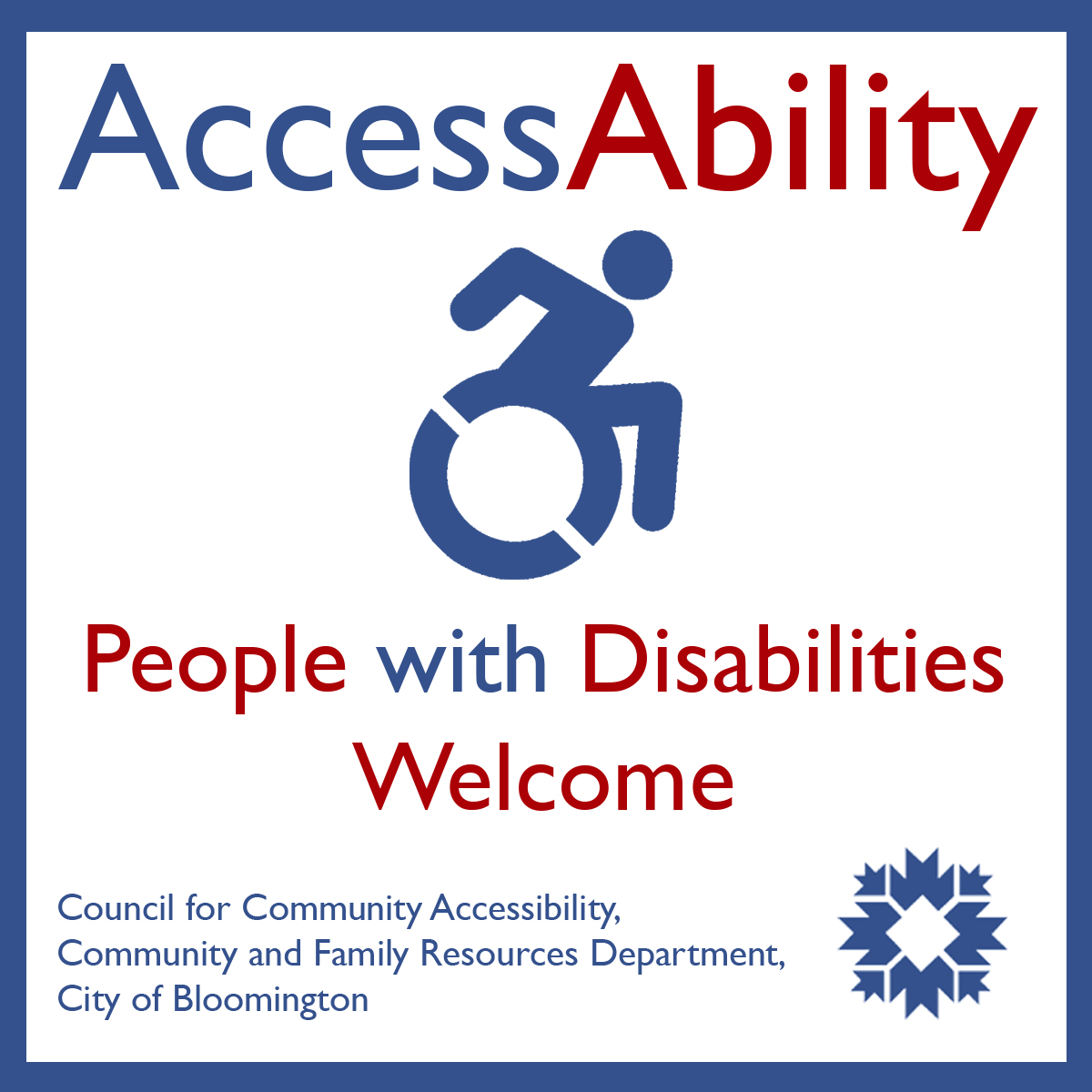 AccessAbility - People with Disabilities Welcome