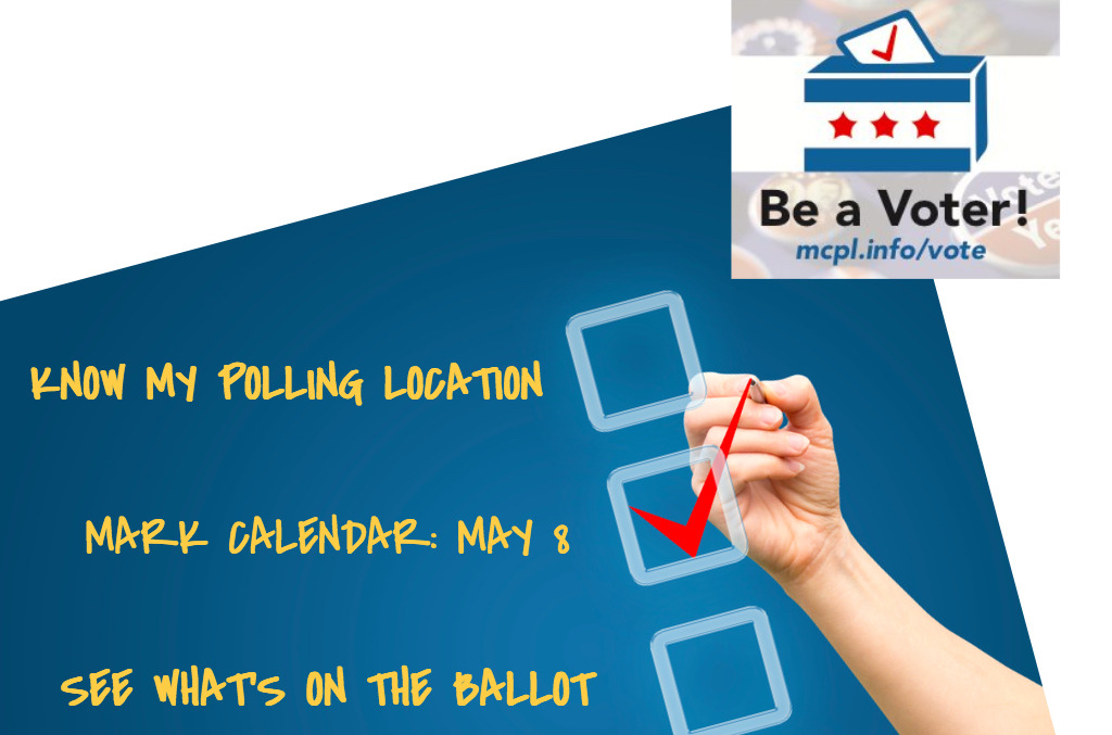 Be a Voter image mcpl.info/vote