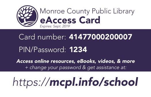 eAccess Library Card