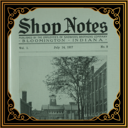 Shop Notes--Showers Brothers Company Employee Newsletter
