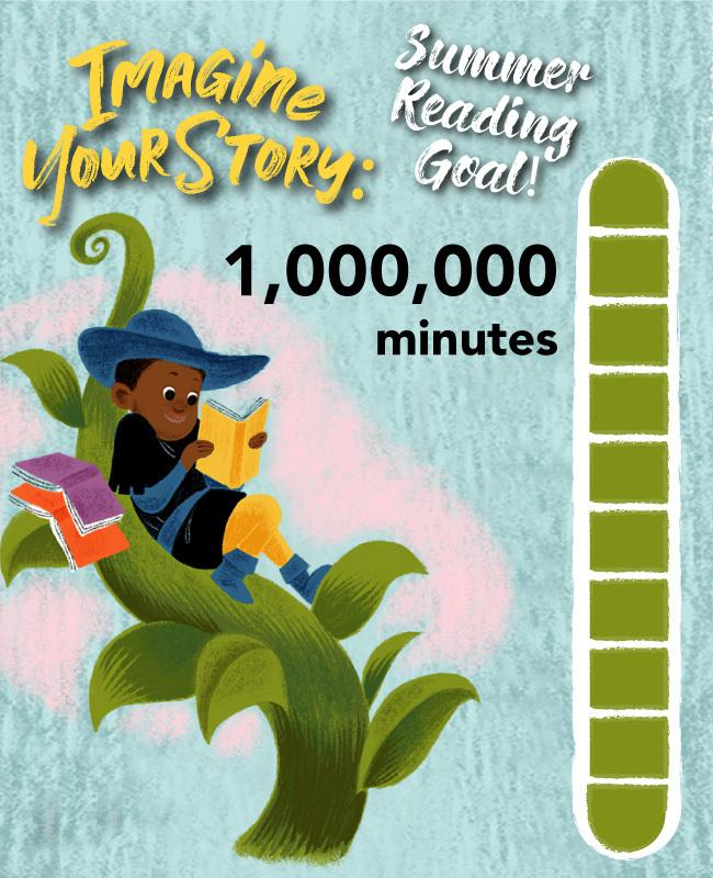 A Summer Reading Progress bar showing 1,000,000 minutes.