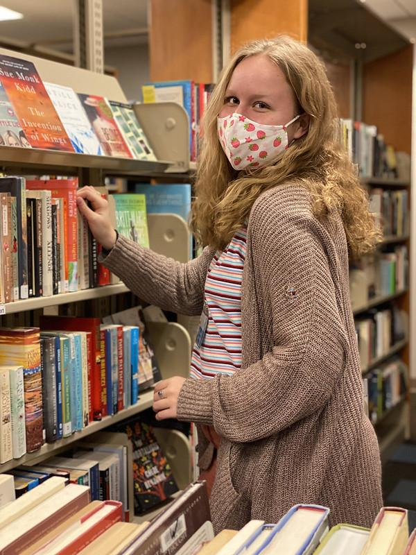 Sylvia Beaver, Bloomington High School North student and Library intern