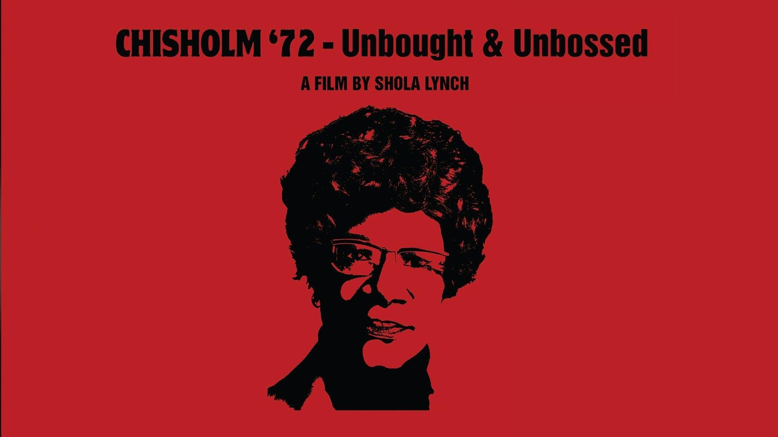 Movie cover art with Shirley Chisholm's face