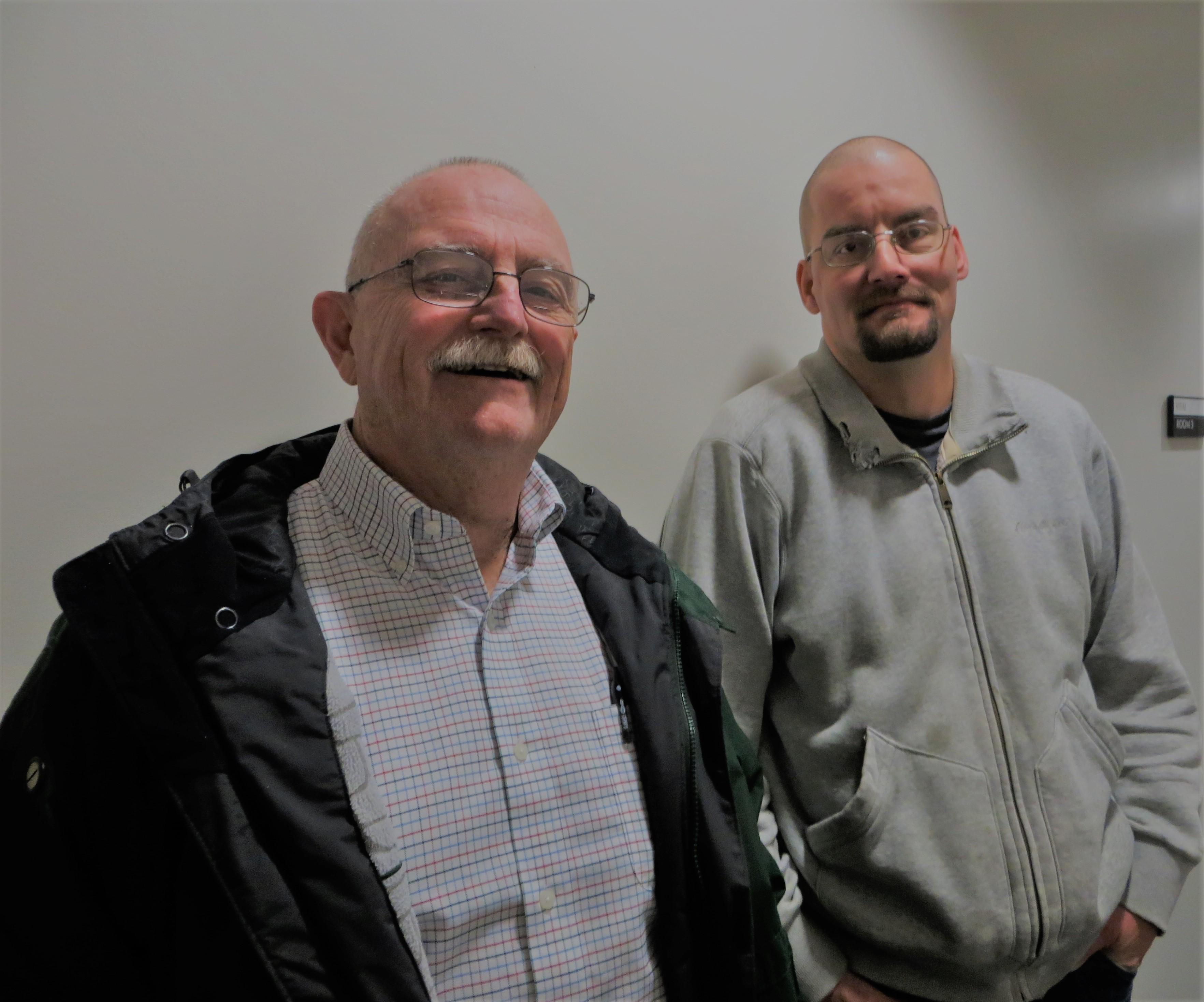 Dennis Davoren and learner Adam Garmon