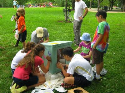 Blooming Kids for Kindness Little Free Library