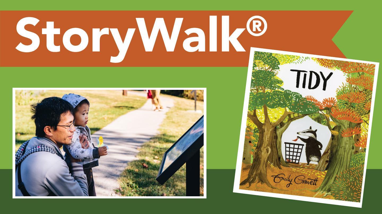 "Story Walk: ""Tidy"" by Emily Gravett"
