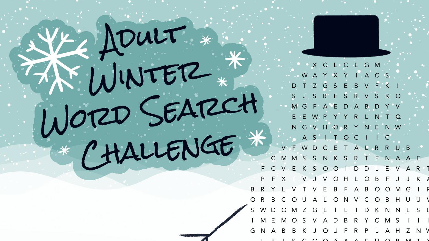 Adult Winter Word Search Challenge
