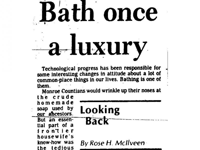 Bath Once a Luxury