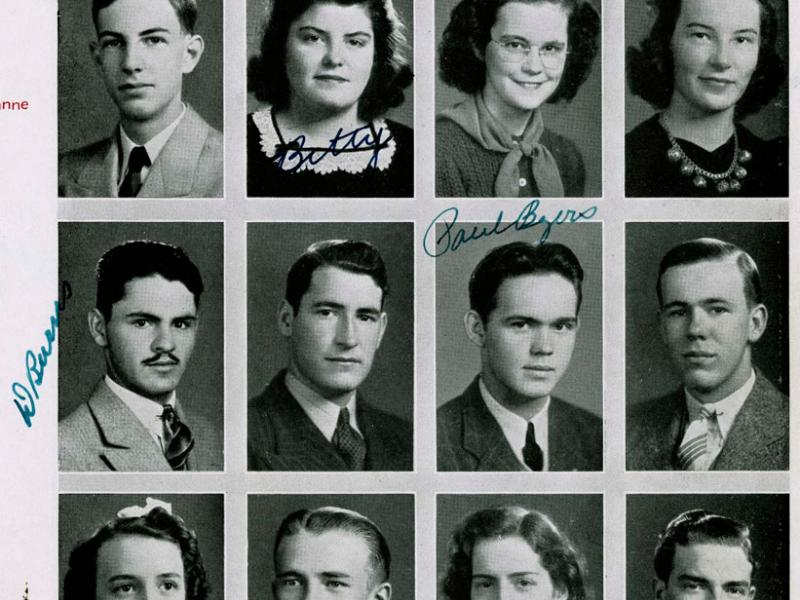 Bloomington High School Yearbook, 1941