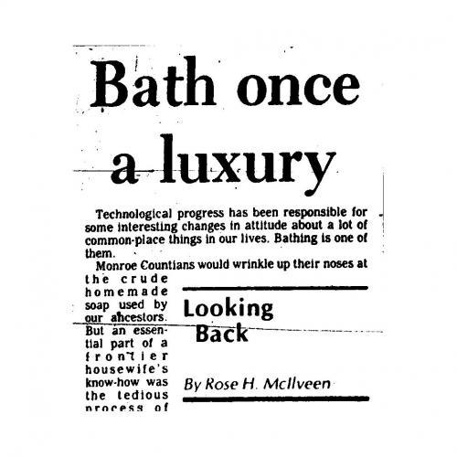 Bath Once a Luxury