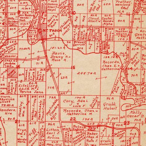 1957 Plat Map