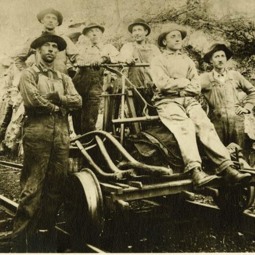 Men on Railcar