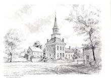 County Courthouse from 1826 where library was located.