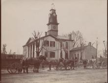 Monroe County Courthouse with County Library - 1821