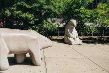 Library Bears sculpted by Karl Schiefer.