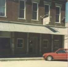 The first Ellettsville Library on Sale Street.